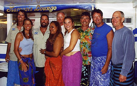 Sarong Night on the boat