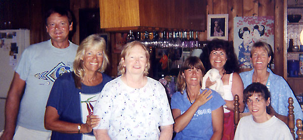 In the kitchen with Jim, Joan, Pat, Anita, kitty, Eileen, Anne and Michelle
