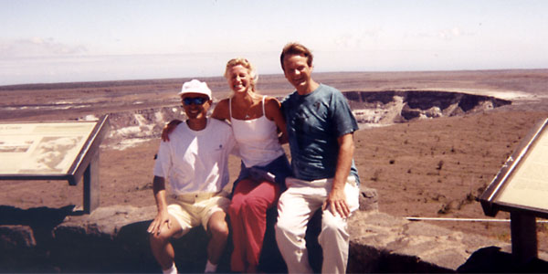 Michael, Angelika and Jim at caldera