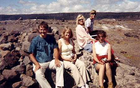 Volcano with group