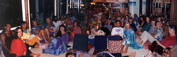 Meditation gathering at Sky Ranch