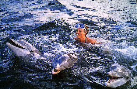 With Dolphins in service in the Florida Keys.