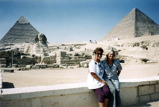 Joan & Trish in Egypt